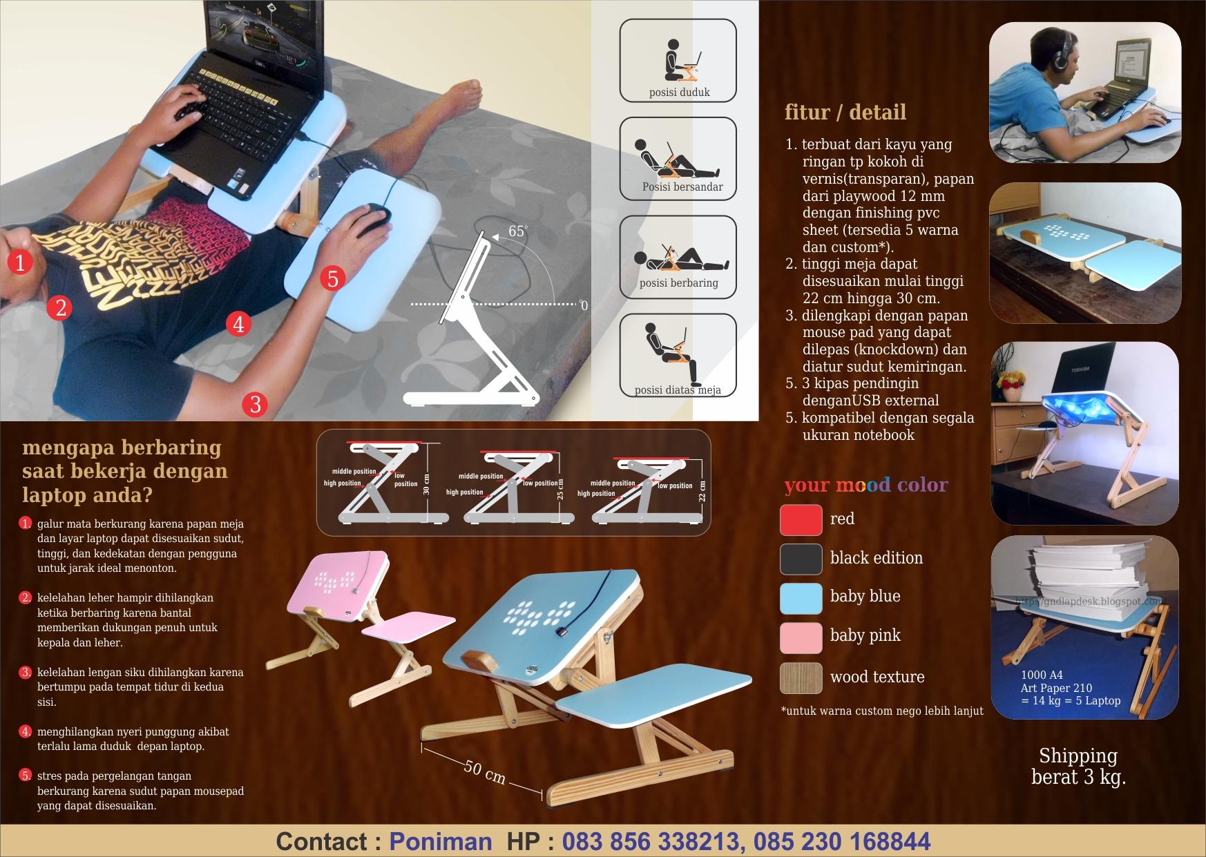 Meja Laptop Mangga Dua 083856338213 Murah Portable Distributor Jual Toko Reseller